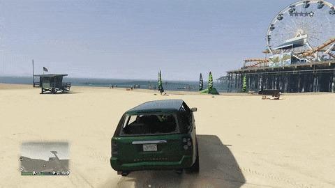 Гэндальф отдыхает на пляже GTA 5, Игры, Компьютерные игры, Видеоигра, Игровой юмор, Гифка