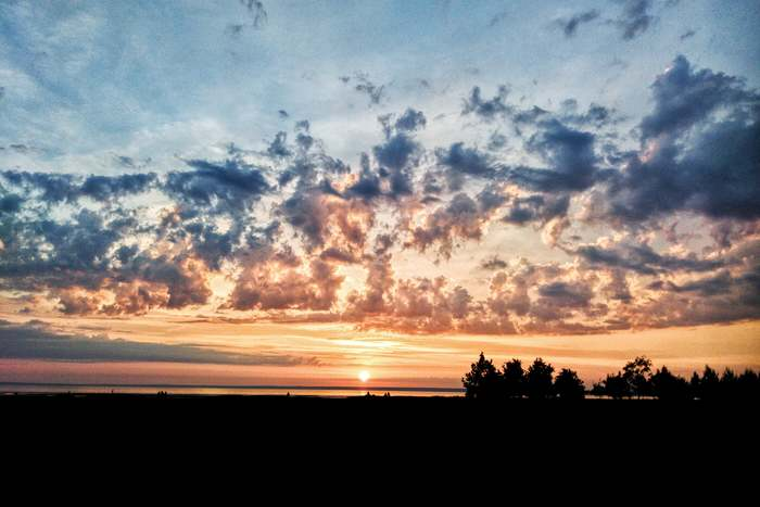 Закат на Финском заливе, Сестрорецк, 18.06.2020