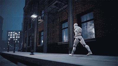 """Визуализация Бесконечной улицы к конкурсу """"Одно и то же"""", процесс Unreal Engine 4, Обучение, Самообразование, ЛучшеДома, Одно и то же, Гифка, Длиннопост"""