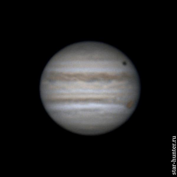 Юпитер и Каллисто, 23 июня 2020 года, 00:19 Юпитер, Планета, Астрофото, Астрономия, Космос, Starhunter, Анапа, Анападвор, Гифка