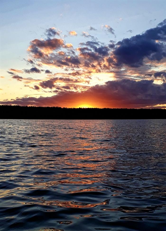 Закат на Чигиринском водохранилище