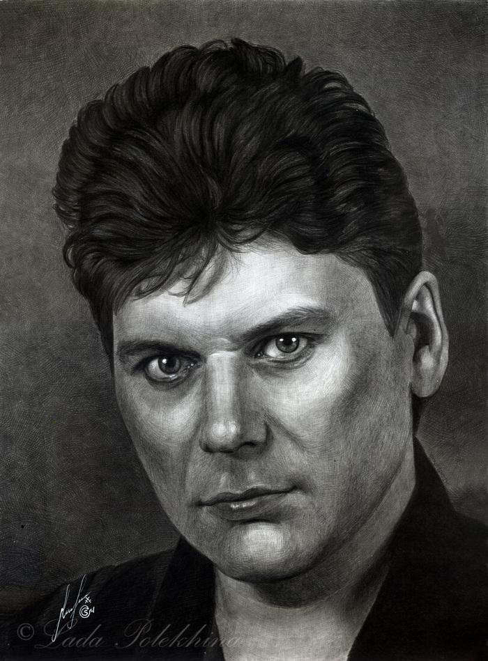 Портрет простым карандашом. quotЮрий Клинскихquot
