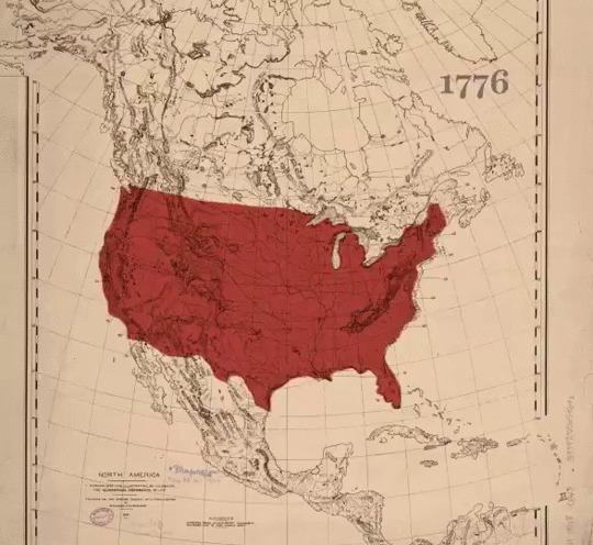 Анимированная карта показывает потерю земли коренным американским населением с 1776 по 1930 год