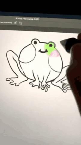 Как надо рисовать лягушку