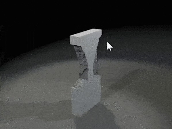 Как создавали процедурную разрушаемость в Control Xyz, Игры, Gamedev, Процедурная генерация, Gdc, Компьютерная графика, Гифка, Длиннопост