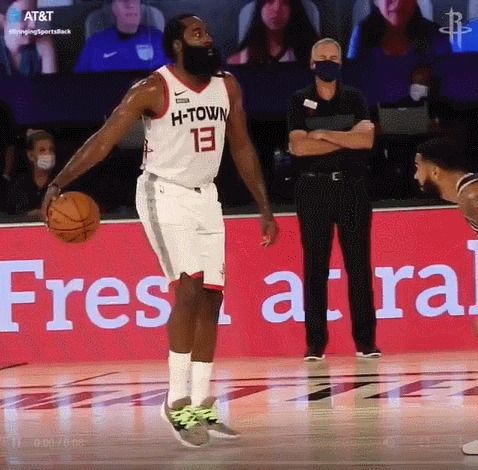 Просто красивый момент отДжеймса Хардена Спорт, NBA, Джеймс Харден, Борода, Дриблинг, Гифка, Баскетбол