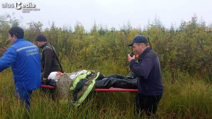 В Среднеколымске благодаря врачам выжил мужчина, на которого напала медведица