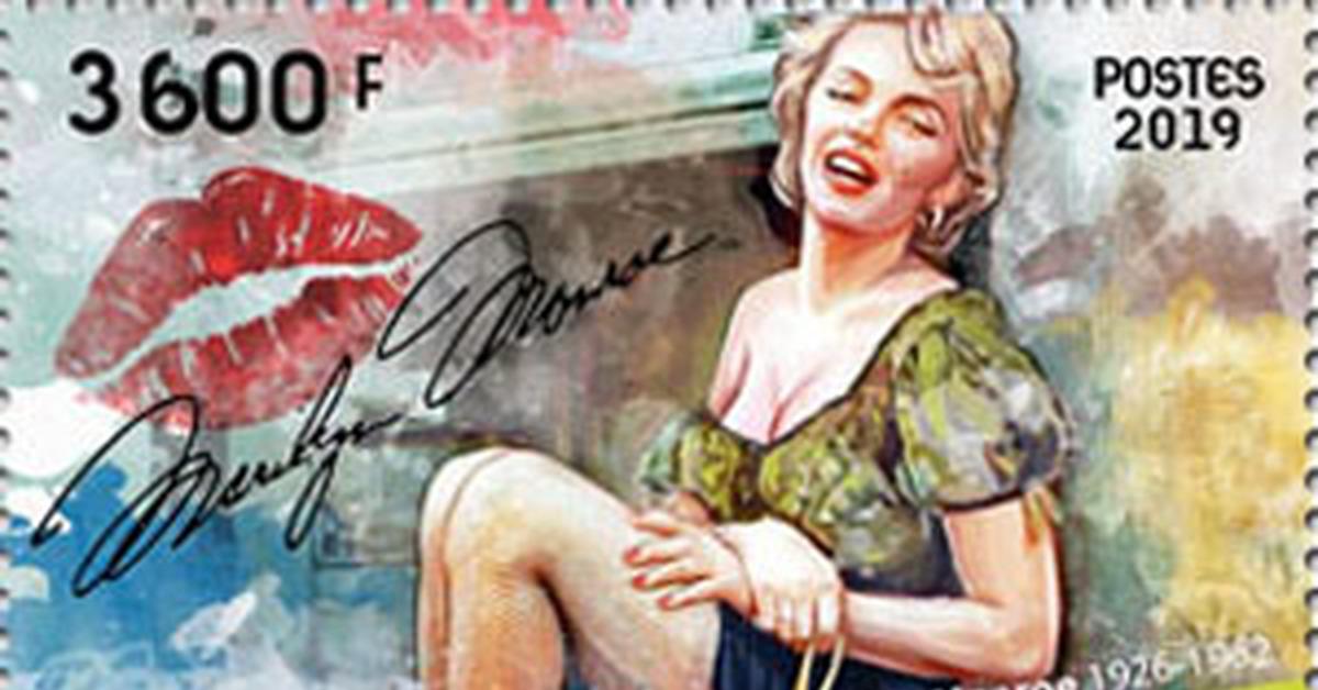 """ММ на почтовых марках (IV) Цикл """"Великолепная Мэрилин"""" - 190"""
