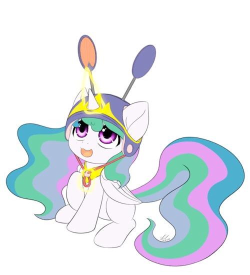Каска достойная королей My Little Pony, Princess Celestia, Гифка