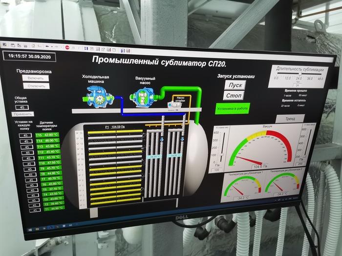 Промышленный сублиматор в Крыму Сублимация, Промышленность, Пищевая промышленность, Сделано в РФ, Крым, Длиннопост