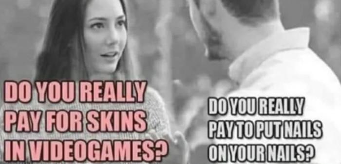 Ты правда платишь за скины в видеоиграх?