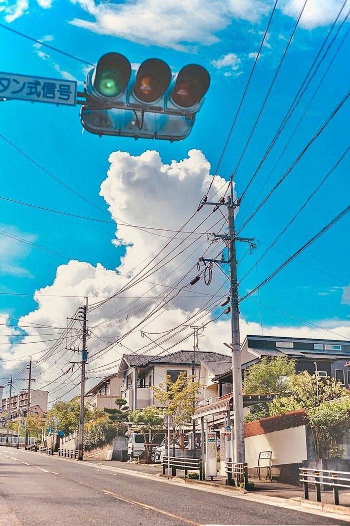 Пригород Токио летом