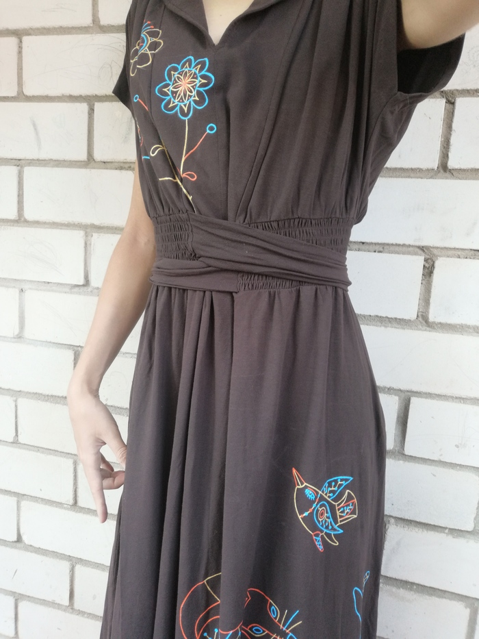 Звери на платье