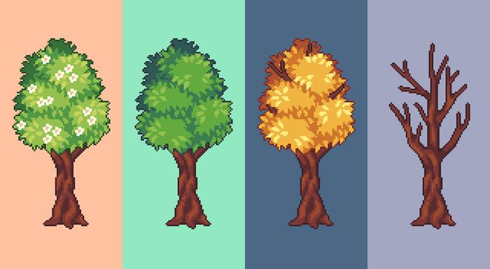 Тренируюсь рисовать деревья