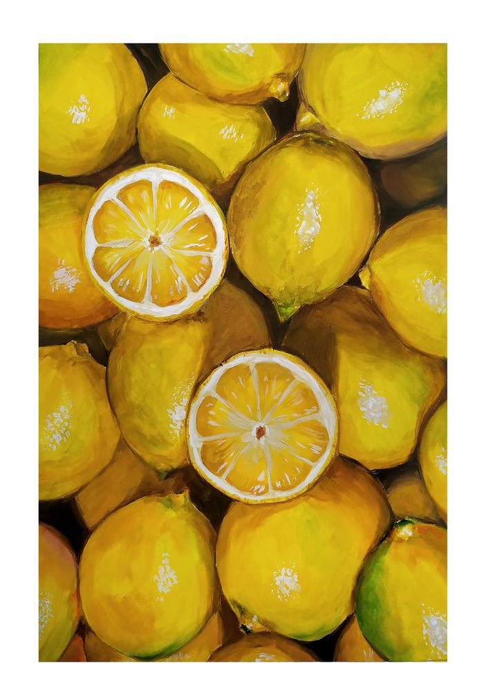 Гуашевые лимончики