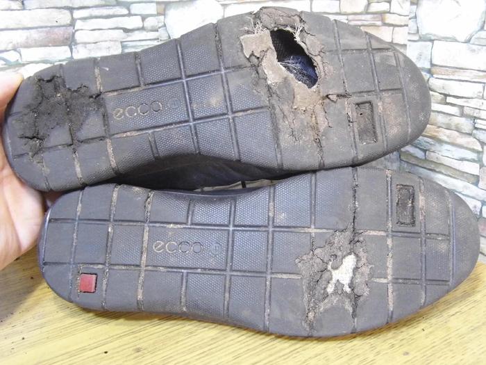 Ремонт очень удобной обуви Ecco - замена подошвы