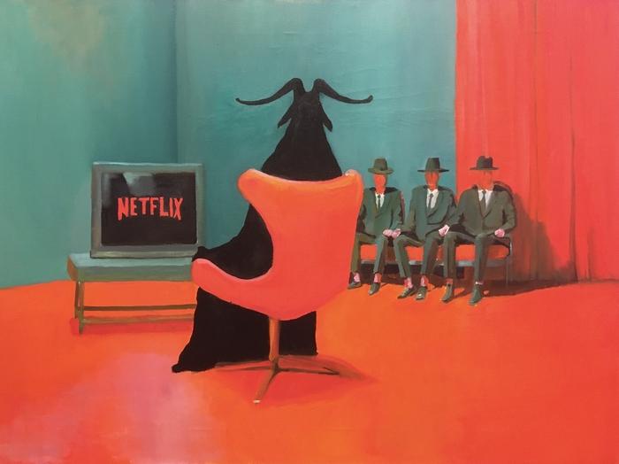 Netflix, масло, холст, 60х80