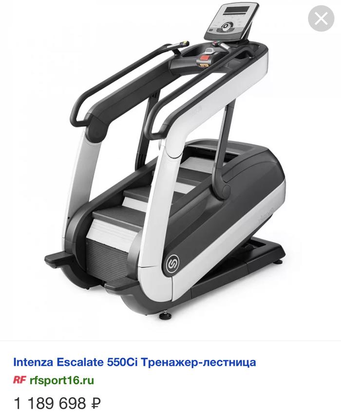 Вчера доставили такой тренажёр на 43 этаж башни ОКО в Москва Сити