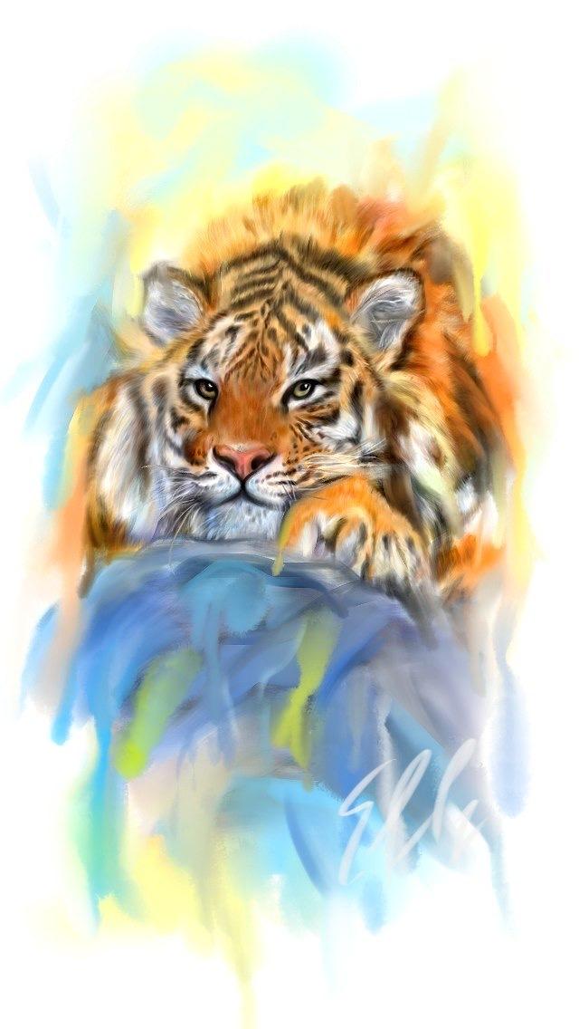 Пальцем на телефоне нарисовал, с тигрой конечно было больно глазам, но потихонечку что то да вышло