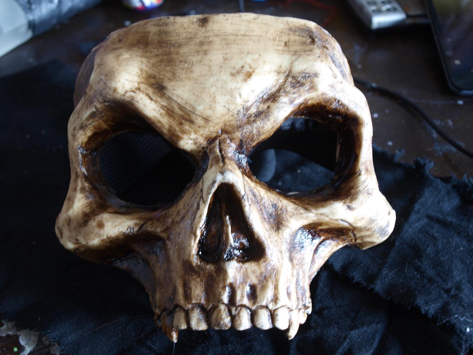 Как сделать маску череп фото 468