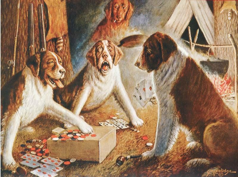 Картина собаки в казино заработать в казино рулетка без вложения