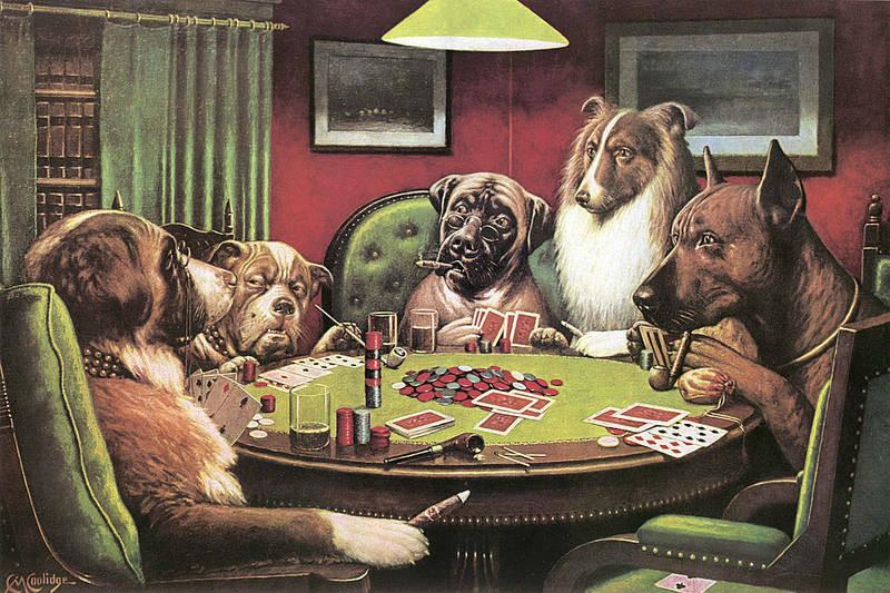 Картина собаки в казино игровой билет в казино