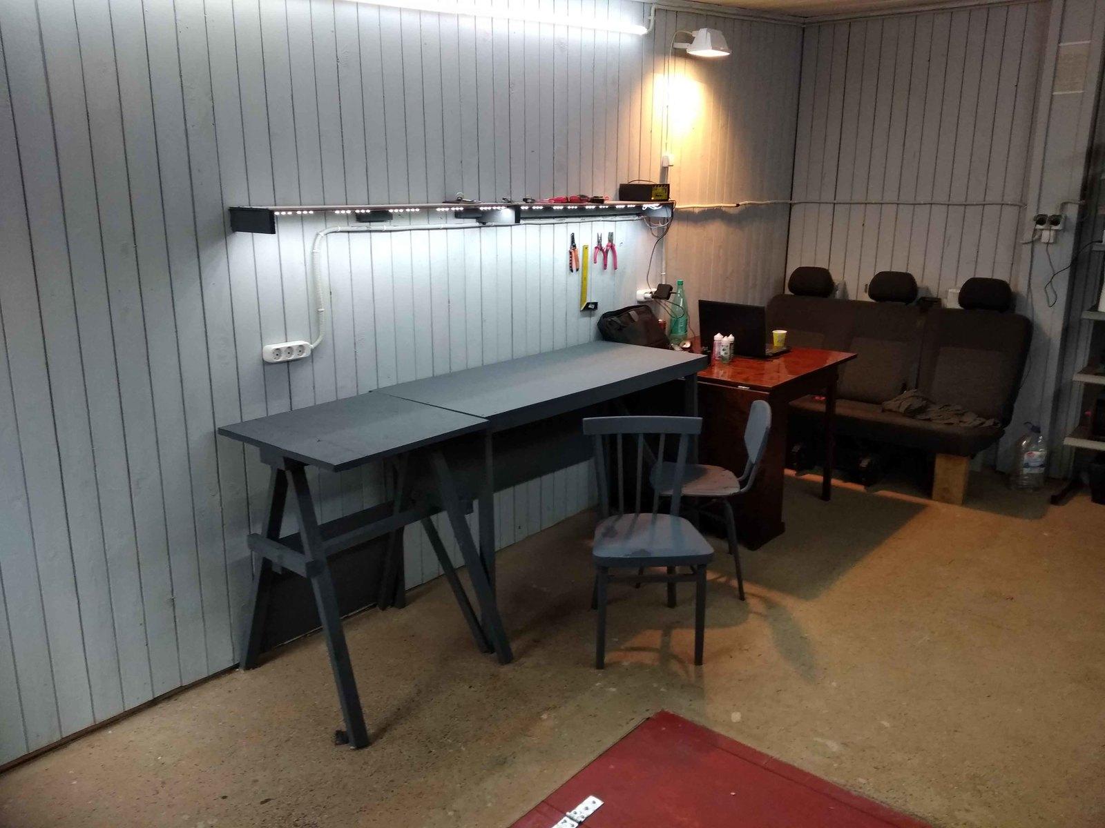 Светодиодный гараж своими руками мастерская