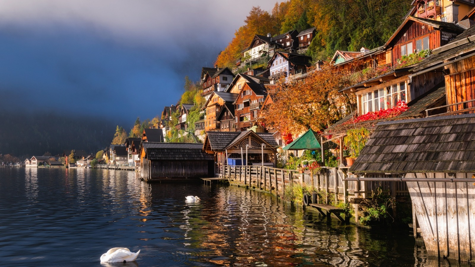 Картинки по запросу гальштат город осень