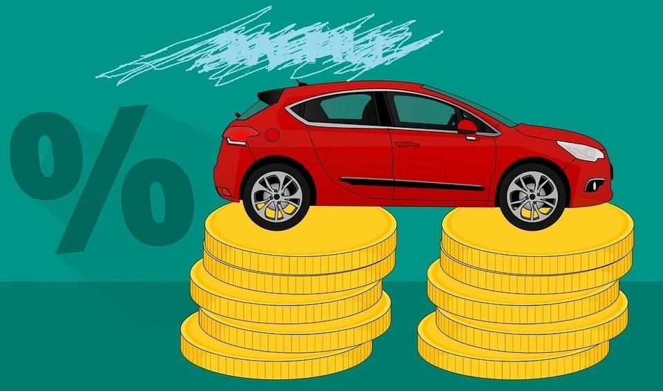 Фото деньги и авто машина которая находится в залоге