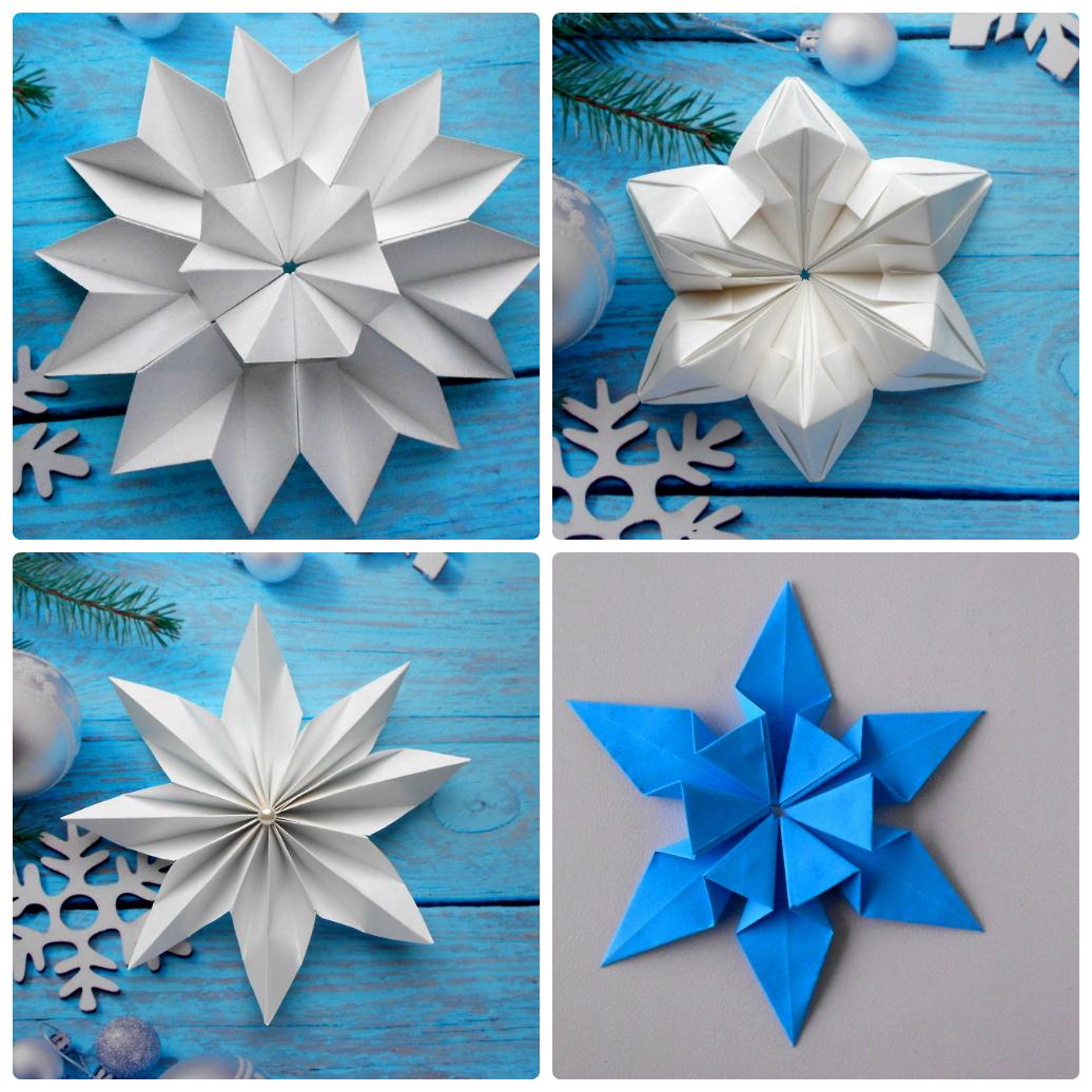 Снежинки из бумаги своими руками которые объемные фото 539