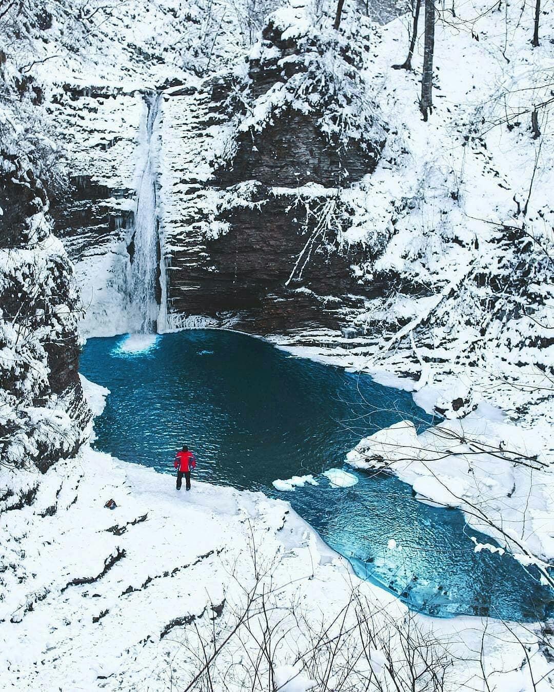 Водопад Руфабго, Республика Адыгея @sohranis   Пикабу