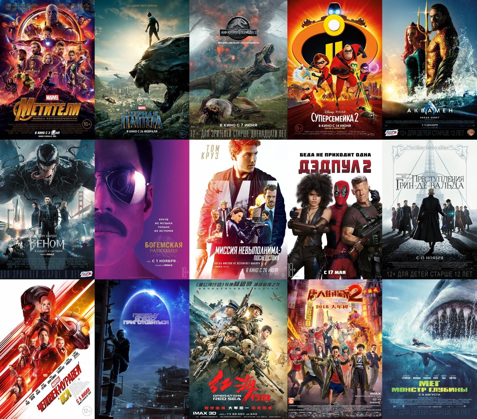 самые кассовые фильмы 2018 года в мировом кинопрокате