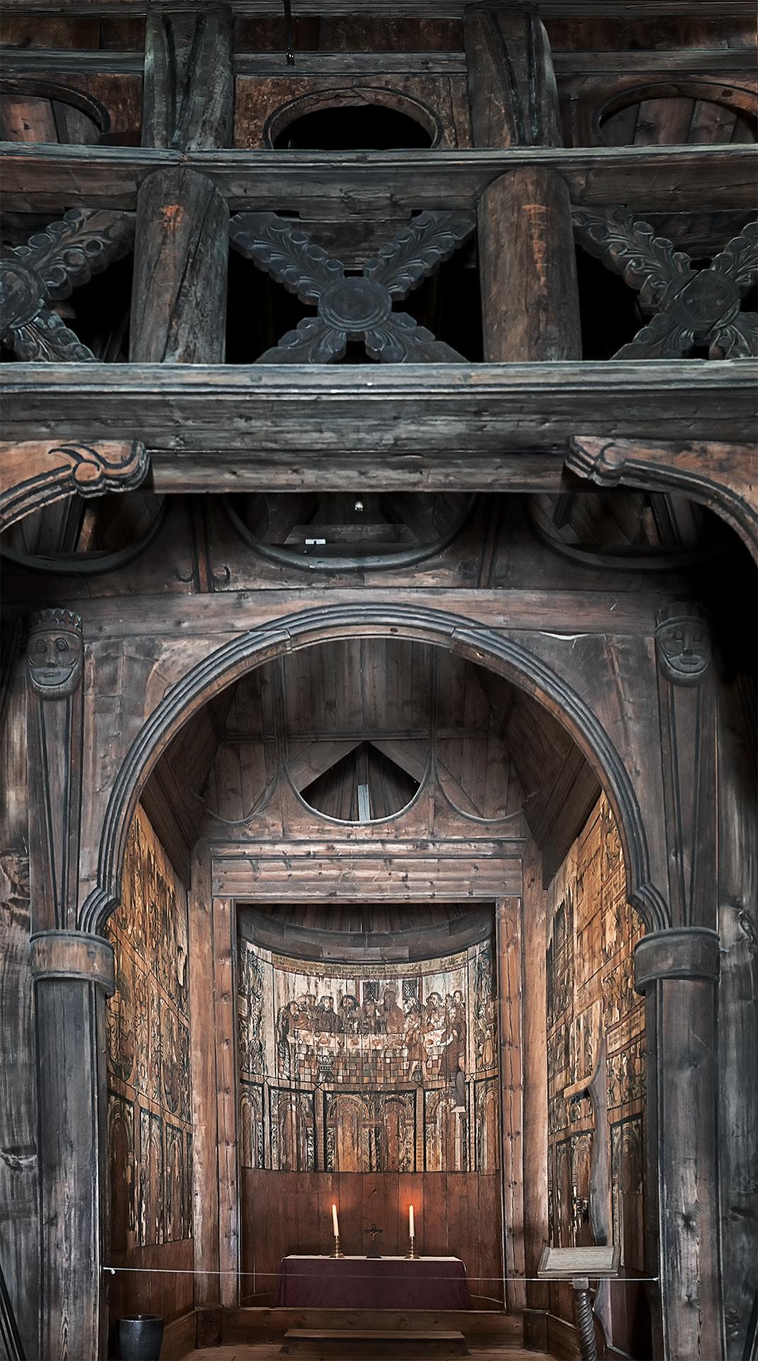 Обои Норвегия, деревянная, церковь. Разное foto 18