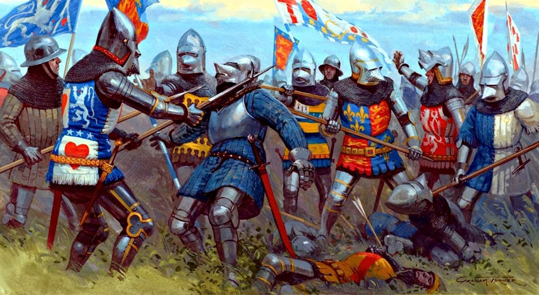 Обои «воин»), замок, доспех, мост, рацарь, осада, всадник, оружие, штурм. Разное foto 12