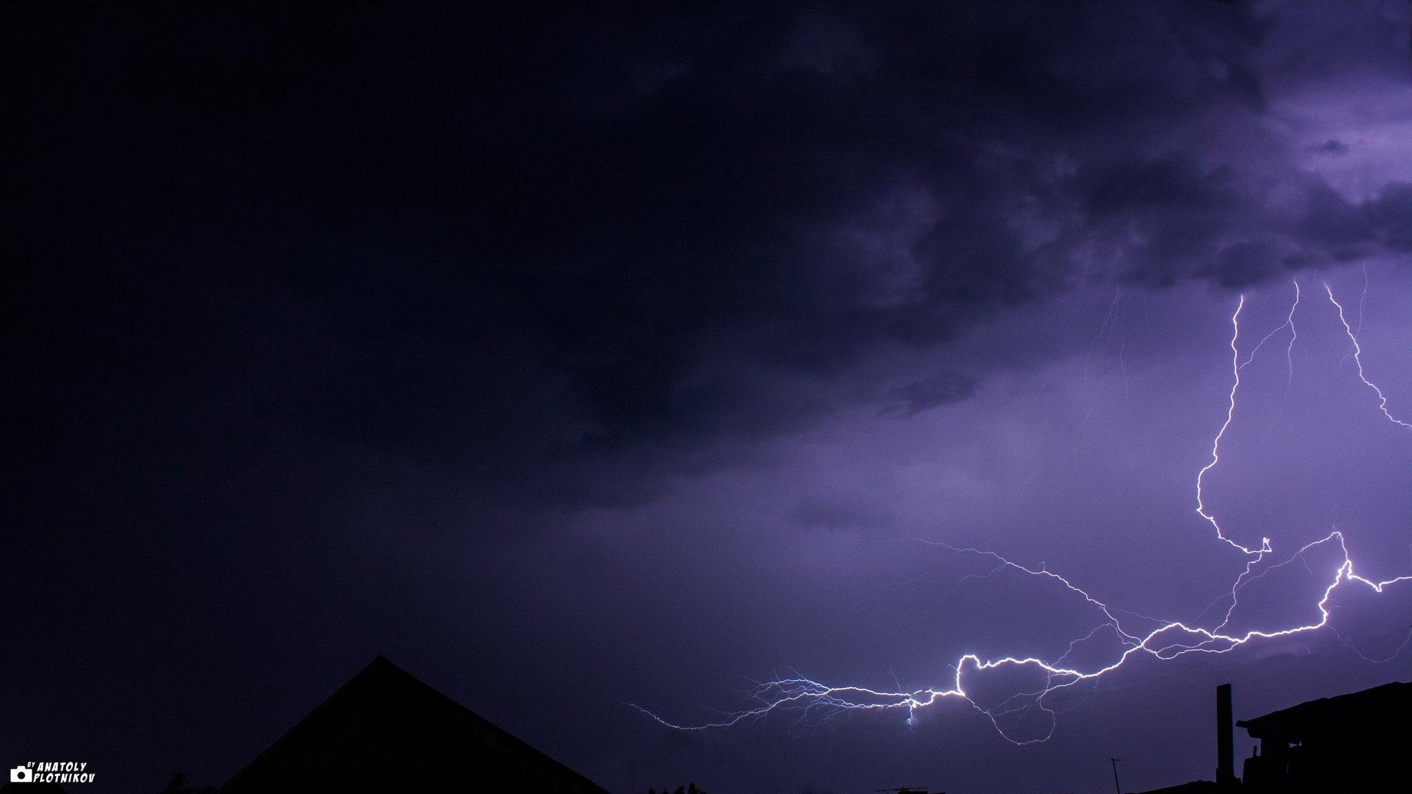 Обои гроза, молния, сша, ночь. Города foto 17