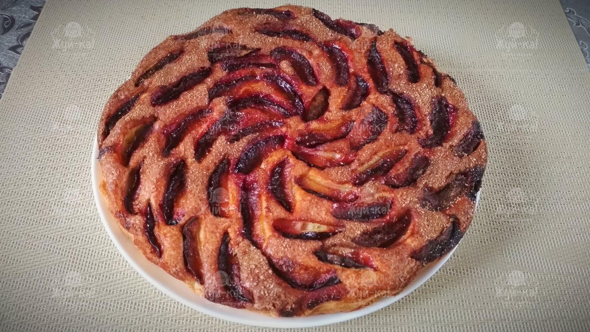 Обои пирог, сливы, сливовый, кофе, выпечка. Еда foto 12