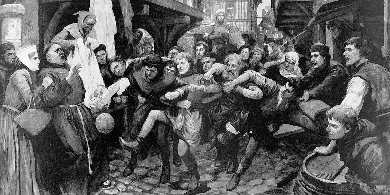 Средневековый футбол в англии картинки