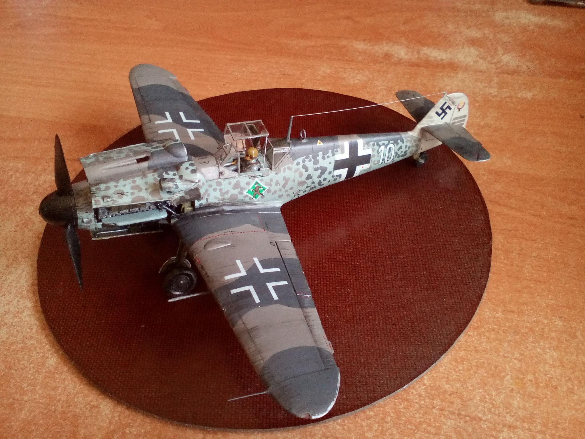 Обои Подвесной топливный бак, gustav, bf-109, мesserschmitt, б-17, Bf.109G-10, бомбардировщик. Авиация foto 9