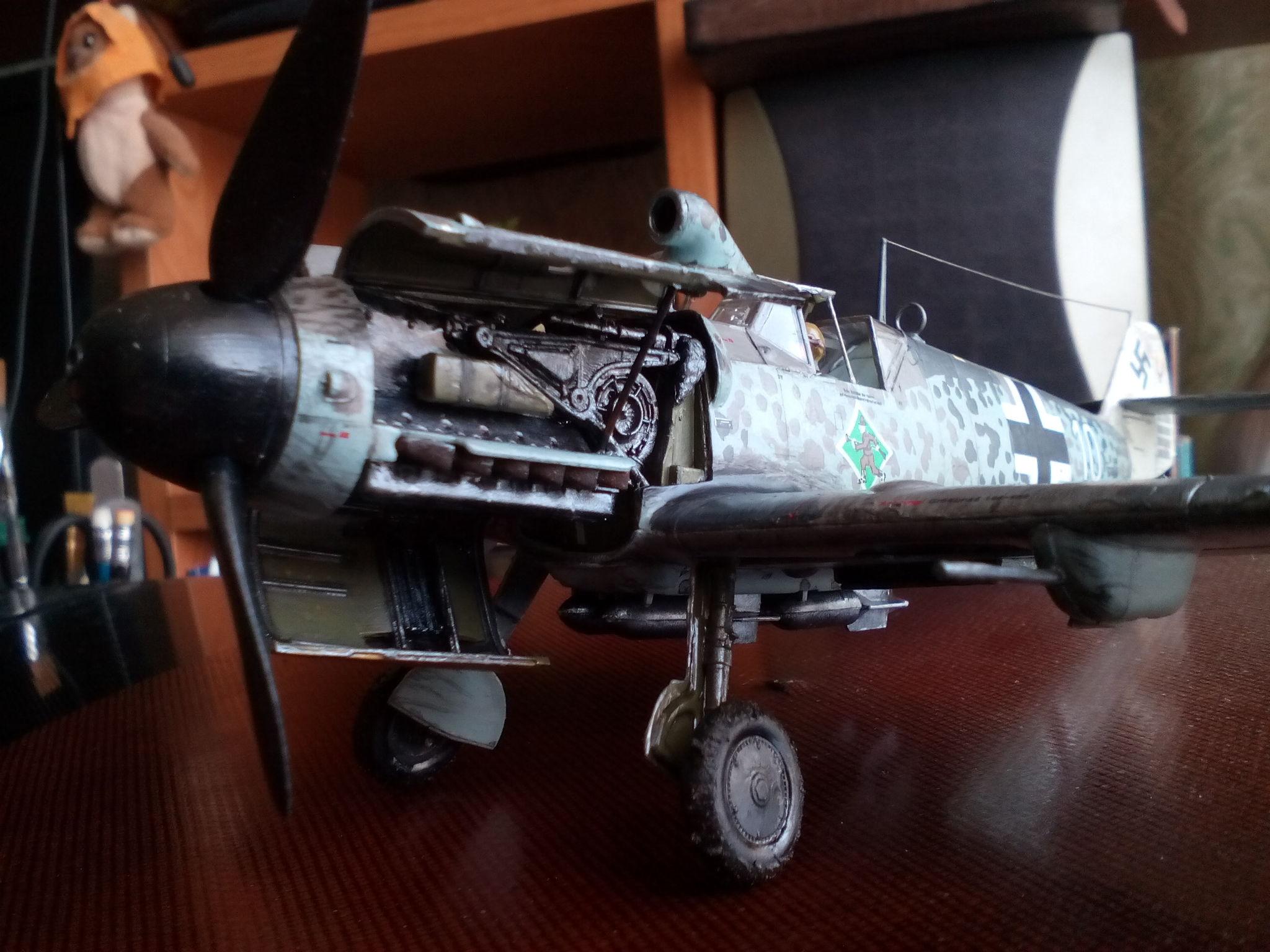 Обои Подвесной топливный бак, gustav, bf-109, мesserschmitt, б-17, Bf.109G-10, бомбардировщик. Авиация foto 15