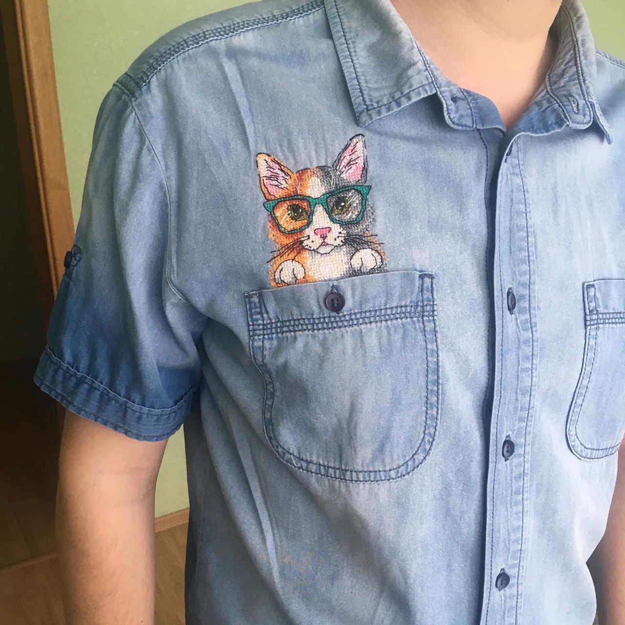 Вышивка крестиком на одежде   Пикабу