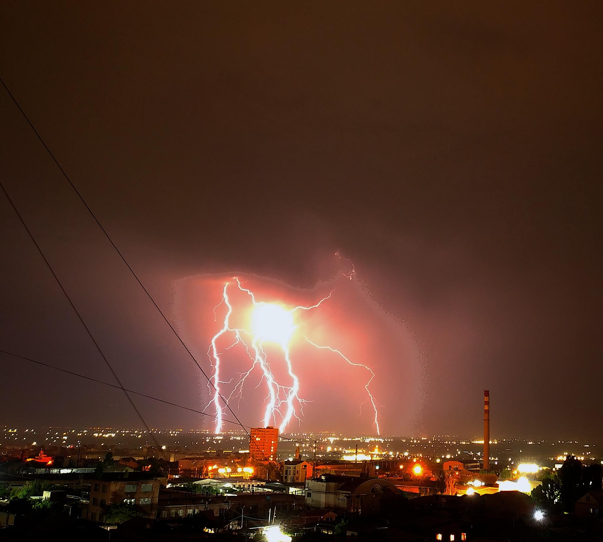 Обои гроза, молния, сша, ночь. Города foto 19
